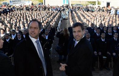 Scioli ratificó que el desarme y lucha contra la droga son pilares de su gestión