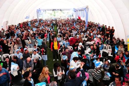 El triunfo de la Selección Argentina se disfrutó en Tigre