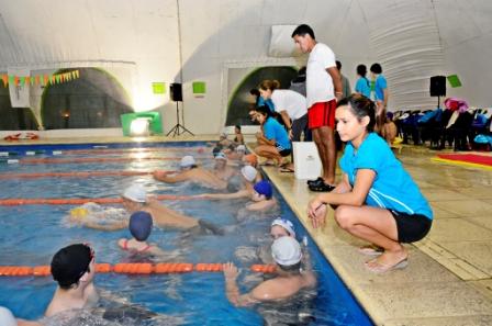 Se realizó en el Polideportivo N° 2 de San Fernando el Tercer Encuentro de la Escuela de Natación