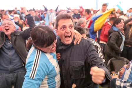 Massa celebró el triunfo de la Selección Argentina en Tigre