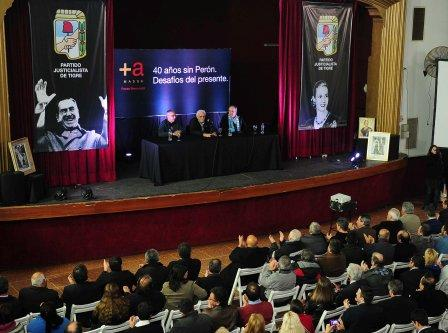 El Frente Renovador de Tigre recordó a Perón en el 40° aniversario de su muerte