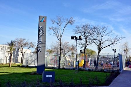 Andreotti inauguró la nueva Plaza de Villa del Carmen