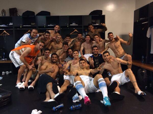 El festejo del Seleccionado Argentino en el vestuario