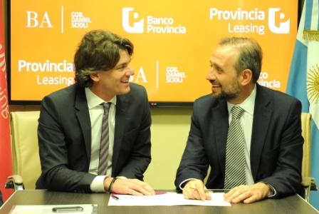 La nueva línea fue presentada este lunes por el presidente del Banco Provincia, Gustavo Marangoni, y el vicepresidente ejecutivo del Grupo Provincia y presidente de la empresa Provincia Leasing, Nicolás Scioli