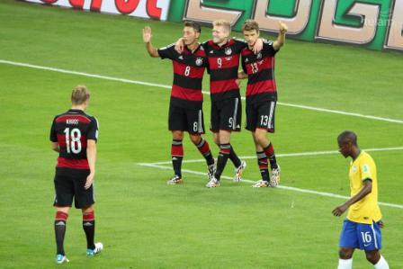 Alemania humilló a Brasil, lo goleó en el Mineirao y se metió en la final