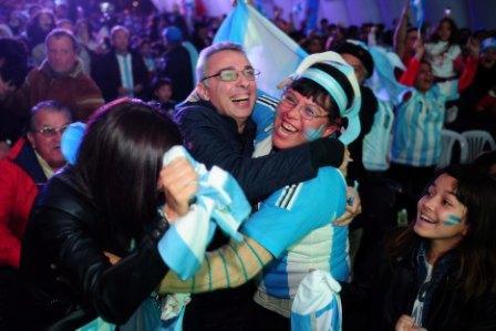 En Tigre se festejó el triunfo de la Selección