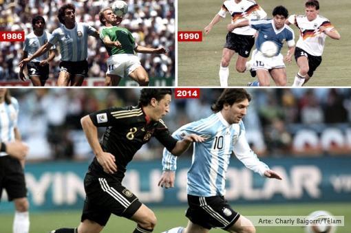 Argentina y Alemania juegan la tercera final de la historia