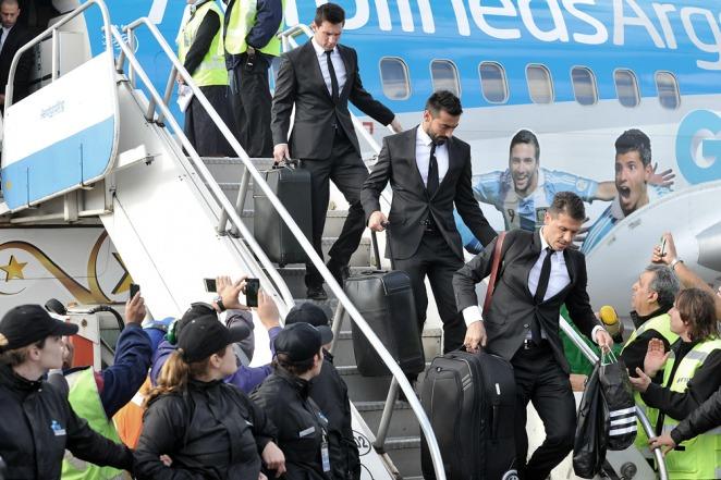 La Selección Argentina fue recibida por una multitud