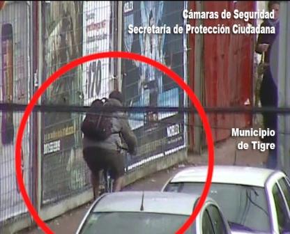 Detienen a un ladrón en Tigre tras robar y ser detectado por las cámaras