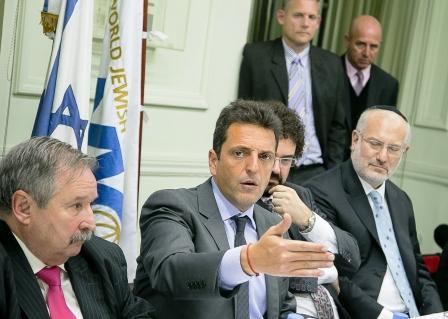articipó de un encuentro organizado por las Sergio Massa con autoridades del Congreso Judío Latinoamericano, donde se refirió al 20° aniversario del atentado a la AMIA