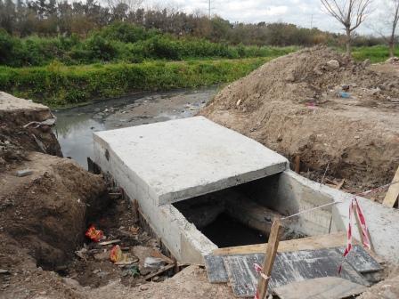 Construyen un nuevo desagüe en Don Torcuato