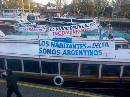 Está paralizado el servicio de transporte fluvial en el Delta