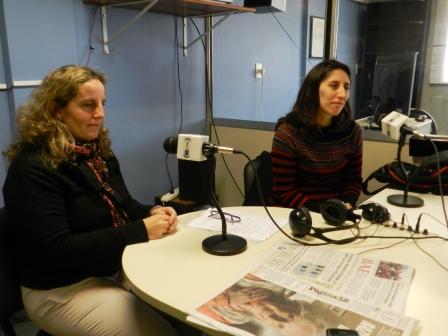 La encuesta fue presentada por las coordinadoras del área de género del IADEPP, Florencia Tufró y Mariana Carroli