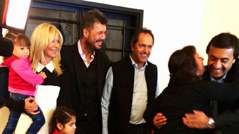 Scioli y Tinelli recorrieron la fundación COR en Beccar