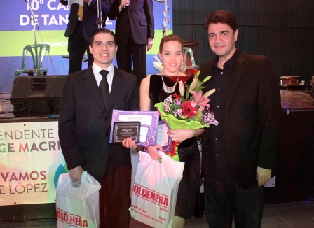 La pareja integrada por Fernanda G. Grosso y Alejandro M. Ferreyra, de Olivos, resultaron campeones