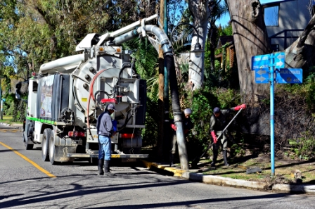 San Fernando realiza mantenimiento en un conducto de casi 2 kilómetros, en el Bajo del distrito