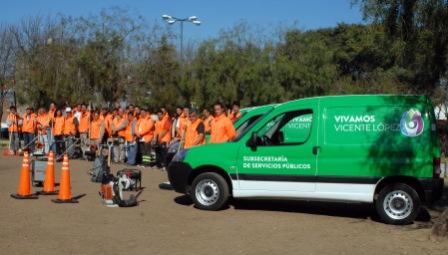 Los placeros vuelven a las plazas de Vicente López para contribuir a un mejor mantenimiento y limpieza