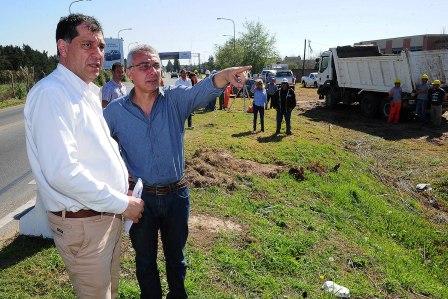 Comenzaron las obras en el tercer carril del camino Bancalari-Benavídez