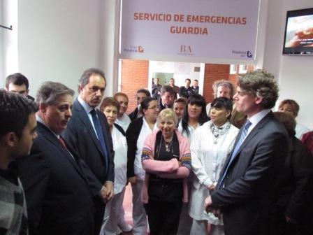 Scioli inauguró la nueva guardia del hospital de Pacheco