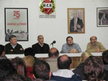 Daniel Salvador se reunió con Radicales de Vicente López