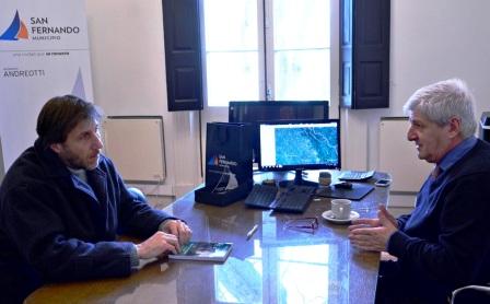 Luis Andreotti firmó un convenio con el Obispado de San Isidro