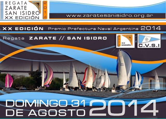 Este domingo se realizará la regata Zárate – San Isidro