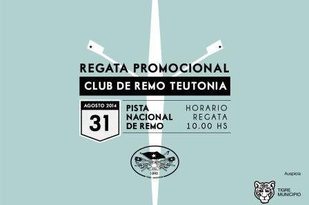 Se corre en Tigre la Segunda Regata Promocional del Club de Remo Teutonia