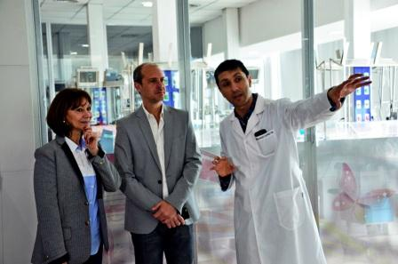 Funcionarios de San Fernando visitaron el Hospital Materno Infantil de Malvinas Argentinas