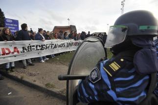 Gendarmería tuvo que desalojar dos cortes en la Panamericana