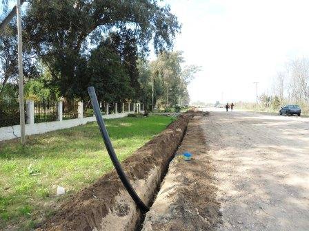 Comienzan los trabajos para ampliar la red de agua potable en Dique Luján