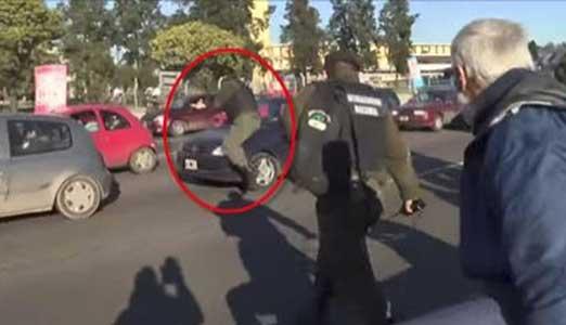 Denuncian a un Gendarme que simula ser atropellado en Panamericana