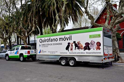 El Quirófano Móvil de Zoonosis realizó más de 6 mil castraciones en San Fernando