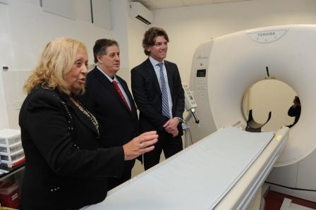 El hospital municipal San José de Campana estrenó un tomógrafo de última generación que fue adquirido mediante un financiamiento de Provincia Leasing