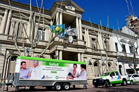 La Unidad Móvil de Salud pasó por la Plaza Mitre de San Fernando