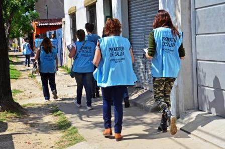 Los Promotores de Salud de San Fernando convocan a charlas informativas y hacen visitas casa por casa