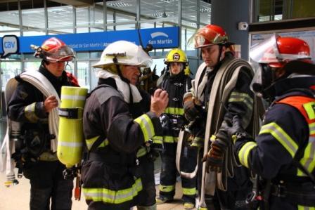 200 bomberos participaron de un mega simulacro en San Martín