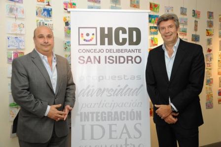 Castellano y D´Alessandro en el Concejo Deliberante de San Isidro