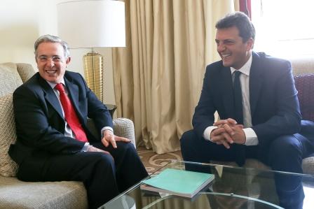 Massa y Uribe se reunieron con eje en la seguridad y en la lucha contra el narcotrafico