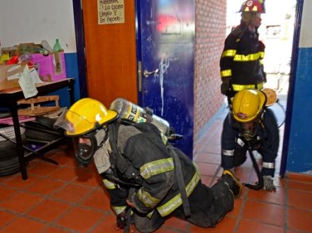 """Se realizó exitosamente un """"Simulacro de Escape de Gas"""" en centros de educación de San Fernando"""
