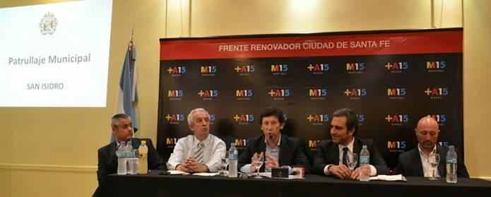 Degano, Correnti, Posse, Martínez y Kahlow en la charla sobre seguridad en Santa Fe
