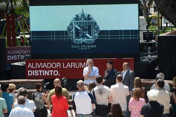 Se inauguraron las obras del Aliviador Larumbe en Martínez