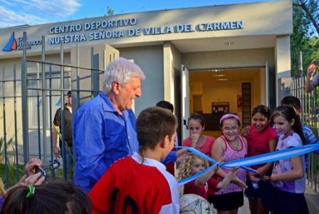 Se inauguró en San Fernando un Centro Cultural y otro Deportivo en Villa del Carmen