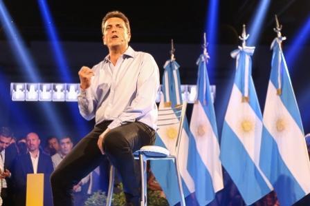 Sergio Massa, en el marco del festejo del primer aniversario del triunfo de las elecciones legislativas del 2013
