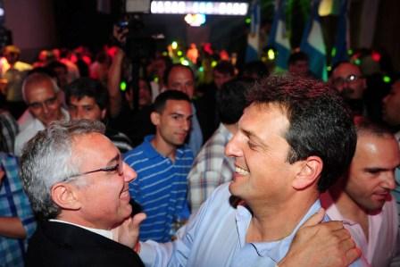 Julio Zamora con Sergio Massa