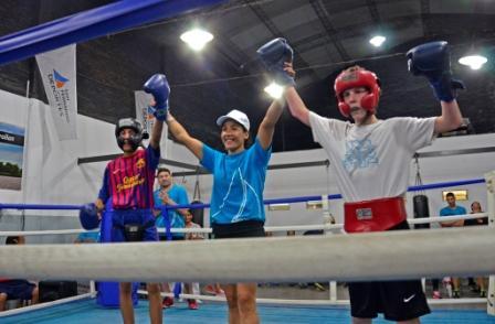 """Exhibición de la Escuela Municipal de box: 3 alumnos de """"La Pantera"""" Farías llegarán al amateurismo"""