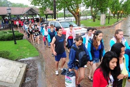 Operativo de rescate a alumnos varados en el Delta