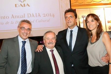 El Intendente Julio Zamora y Malena Galmarini acompañaron al Diputado Nacional Sergio Massa en la celebración  de la Delegación de Asociaciones Israelitas Argentinas que conmemoró el Día de la Diversidad Cultural