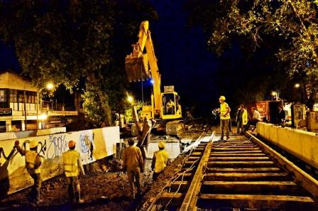 El montaje de los puentes Túnel de  Avellaneda permite iniciar las excavaciones