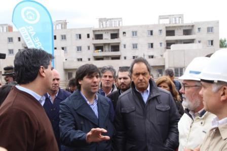 Del acto participaron el jefe de Gabinete, Jorge Capitanich; el director ejecutivo de ANSES, Diego Bossio; el gobernador Daniel Scioli.