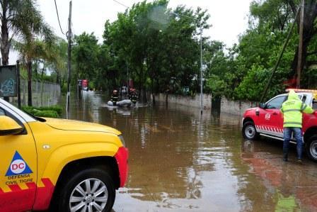 La sudestada sigue afectando a los vecinos de Tigre